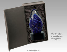 Load image into Gallery viewer, Art Glass - Blue Tear Drop
