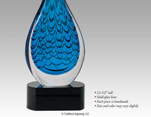 Load image into Gallery viewer, Art Glass - Blue Raindrop