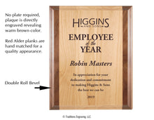 Load image into Gallery viewer, Red Alder and Walnut Plaque