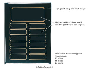 Perpetual Plaque - Black Piano