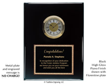 Load image into Gallery viewer, Piano Finish Clock Plaque
