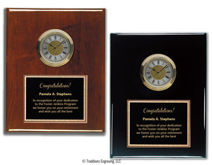 Piano Finish Clock Plaque