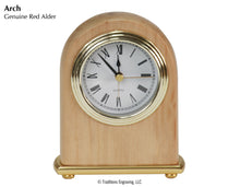 Load image into Gallery viewer, Desk Clock - Red Alder Wood