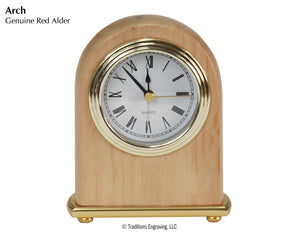 Desk Clock - Red Alder Wood