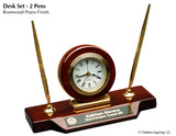 Desk Clock - Rosewood Finish