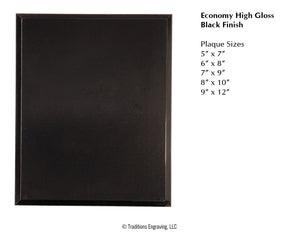 Economy High Gloss Plaque