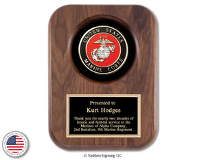 American Military Tribute Plaques