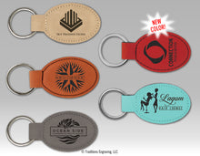 Load image into Gallery viewer, Leatherette Oval Keyring