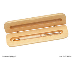 Wooden Pen Case - Clamshell