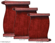 Load image into Gallery viewer, Rosewood Piano Finish Scroll Plaque