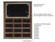 Load image into Gallery viewer, Perpetual Plaque - Walnut