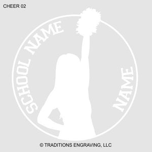 Cheer Car Decal
