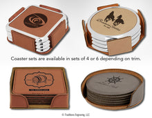 Load image into Gallery viewer, Leatherette Coasters