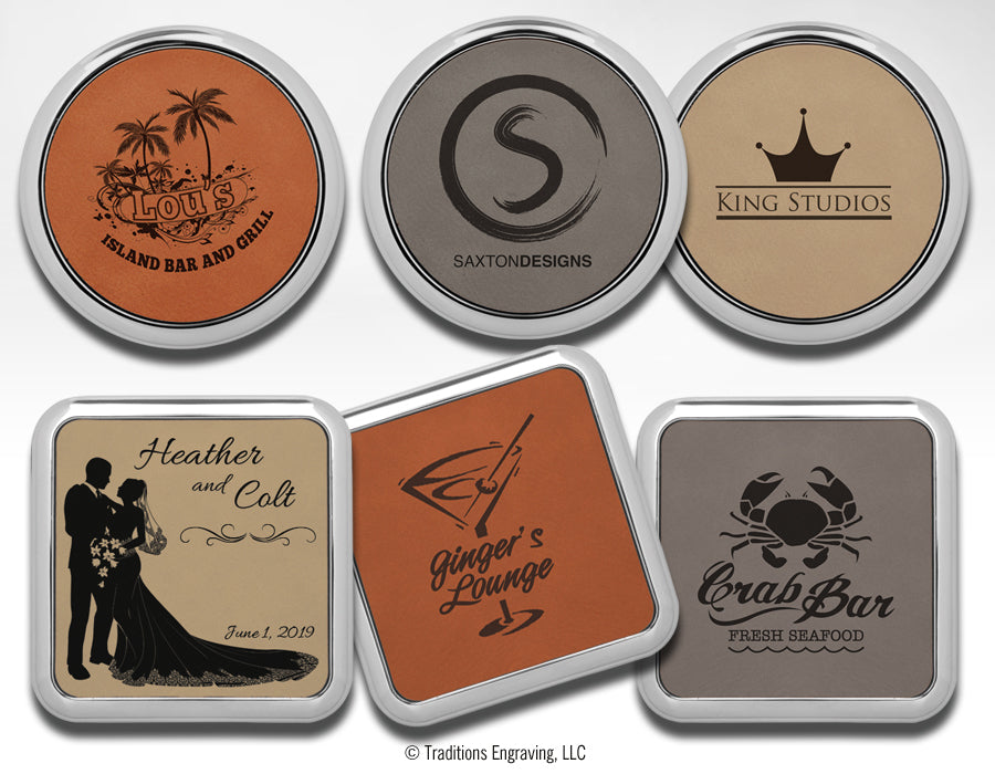 Leatherette Coasters