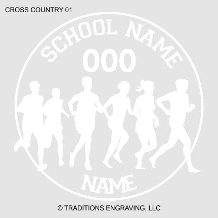Cross Country Car Decal