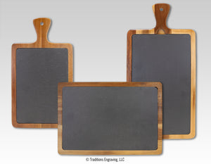 Acacia Wood/Slate Cutting Board