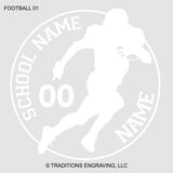 Football Car Decal