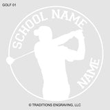 Golfer Car Decal