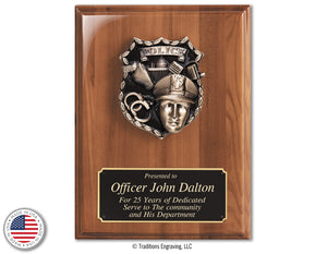 Walnut First Responder Plaques