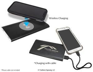 Power Bank and Wireless Anodized Aluminum Charger 8000mAh