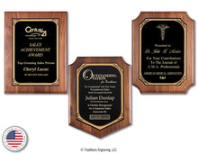 Load image into Gallery viewer, Walnut Plaque Trilogy
