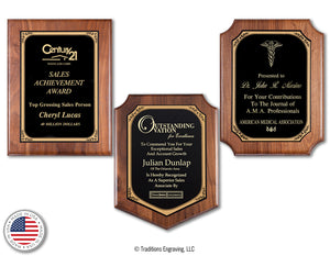 Walnut Plaque Trilogy