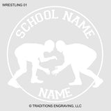 Wrestling Car Decal