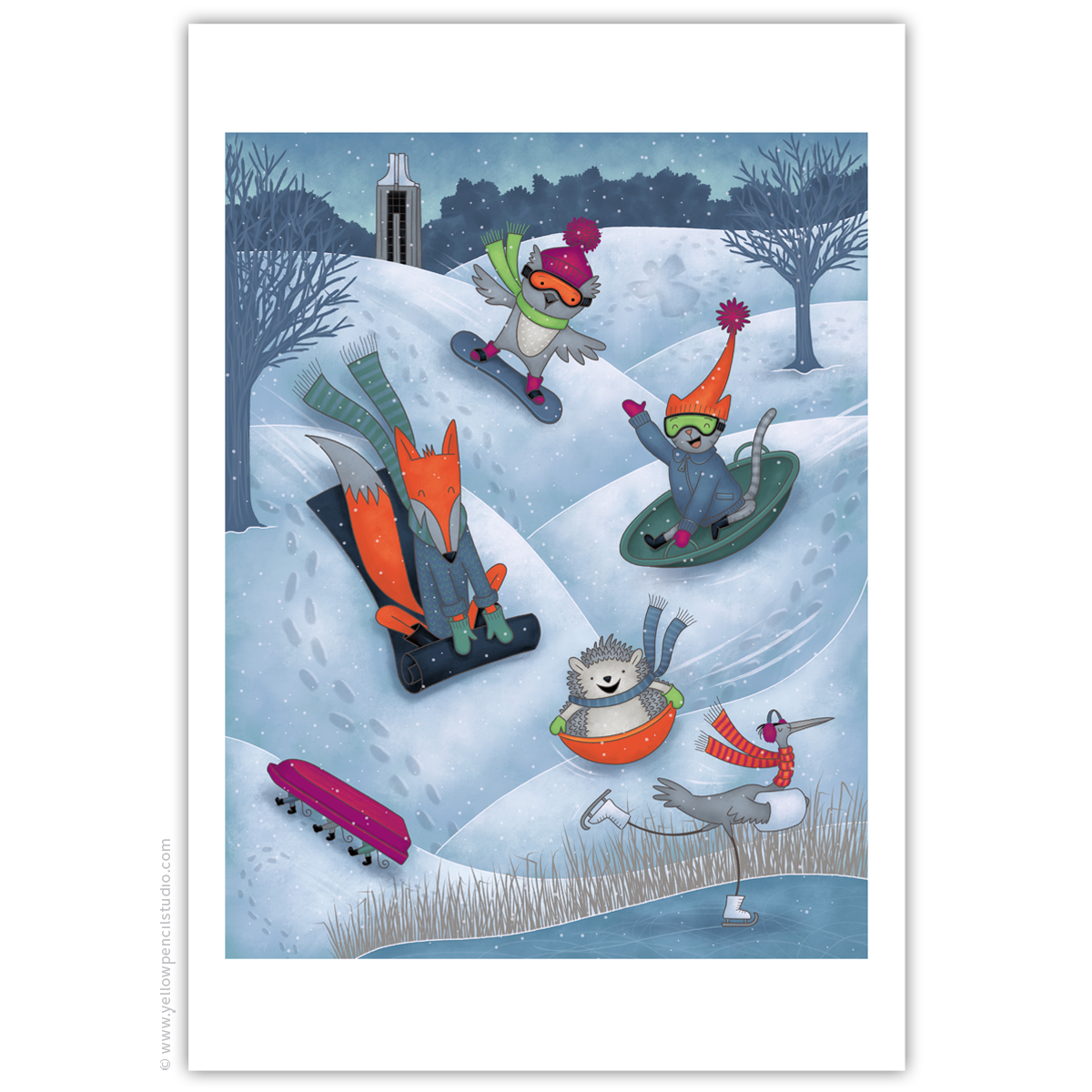 """Winter in Lawrence"" Archival Print - Yellow Pencil Studio"