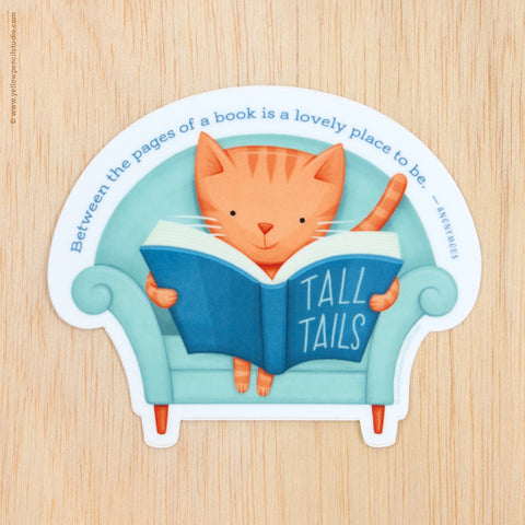 Tall Tails Cat Sticker - Yellow Pencil Studio