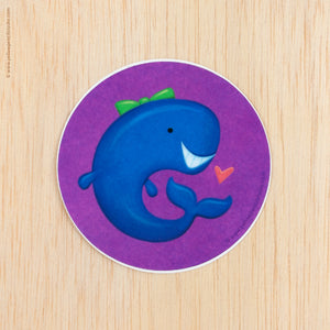 Whale Sticker - Yellow Pencil Studio