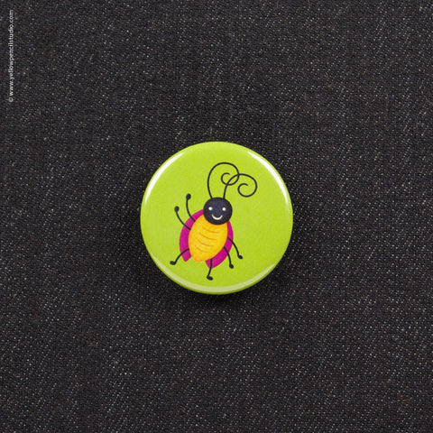 Friendly Bug Button - Yellow Pencil Studio
