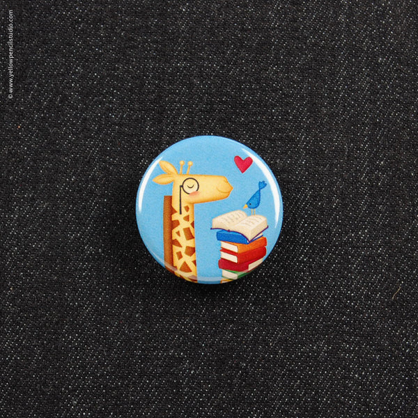 Giraffe Button - Yellow Pencil Studio