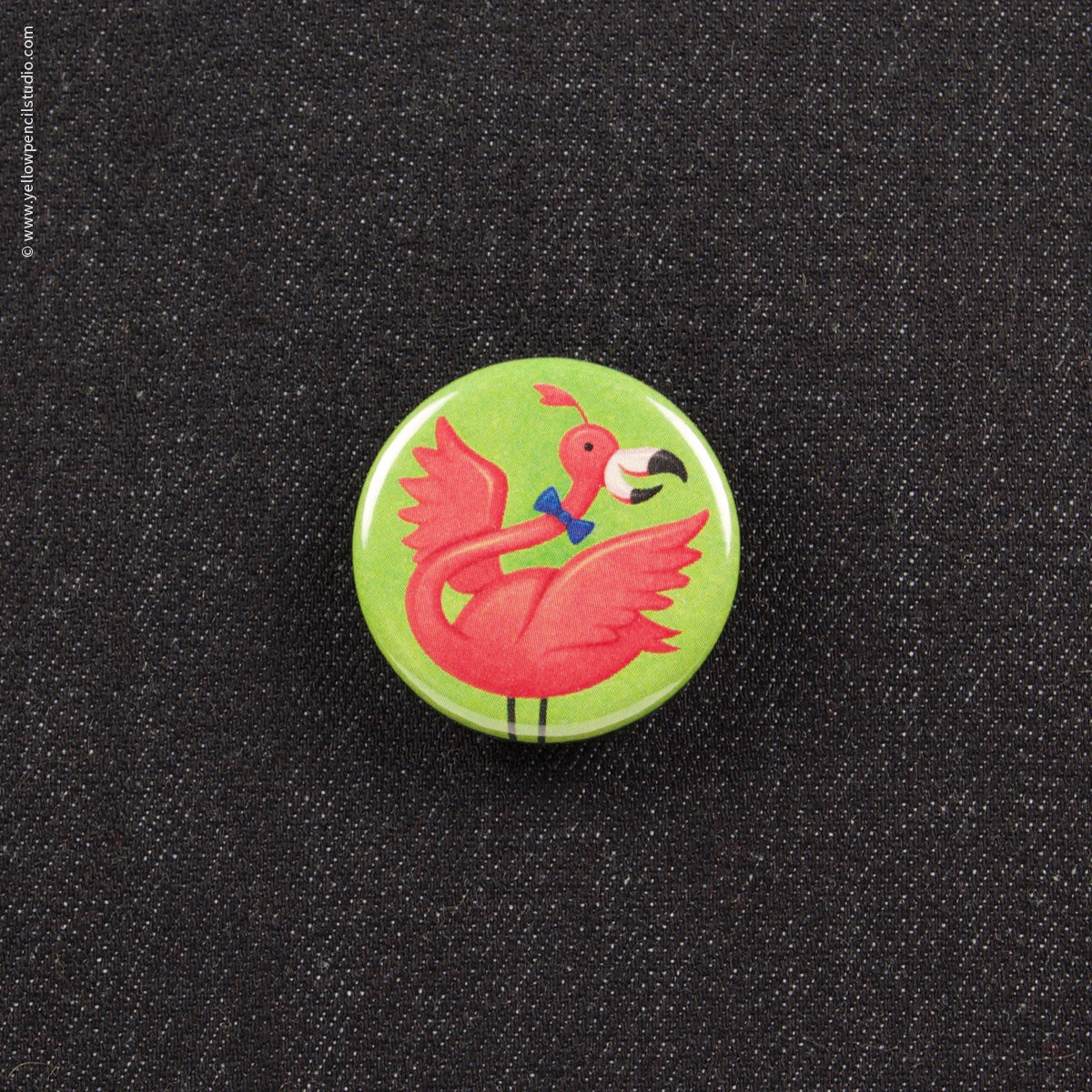 Flamingo Button - Yellow Pencil Studio
