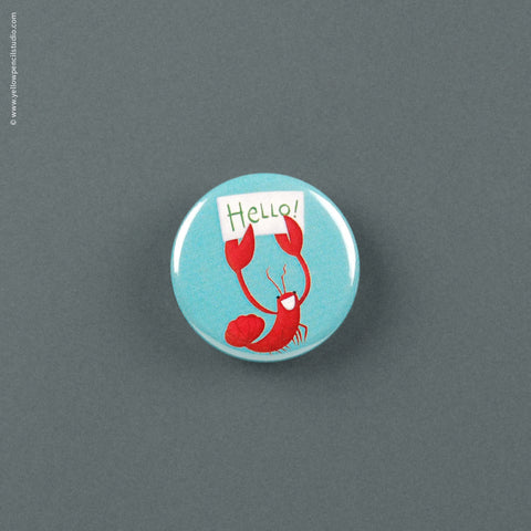 Hello Lobster Magnet - Yellow Pencil Studio