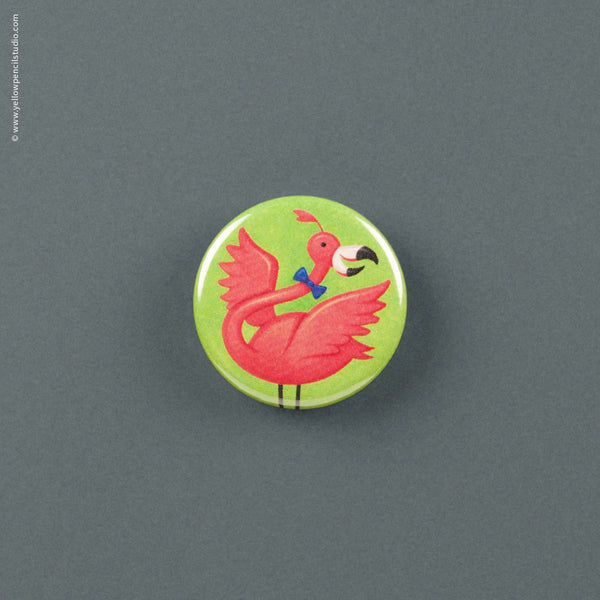 Flamingo Magnet - Yellow Pencil Studio