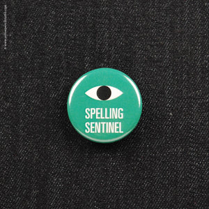 Spelling Sentinel Button - Yellow Pencil Studio