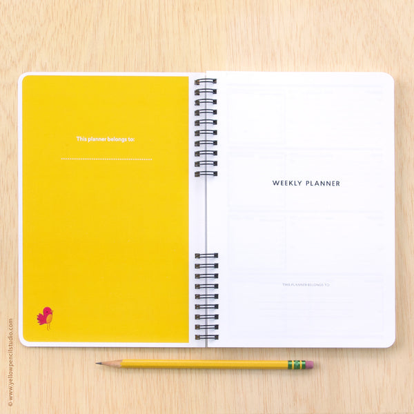 Foxy Family Weekly Planner - Yellow Pencil Studio
