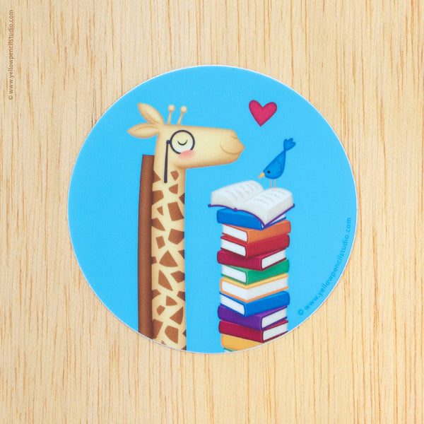 Giraffe Sticker - Yellow Pencil Studio