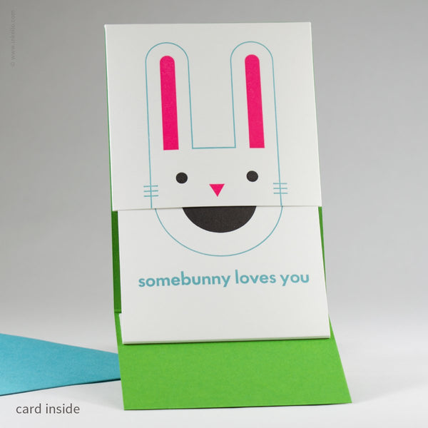 Peek-a-Boo Somebunny Loves You Card (#417) - Yellow Pencil Studio