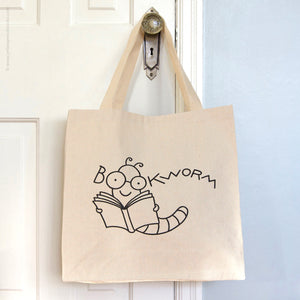 Bookworm Tote Bag - Yellow Pencil Studio