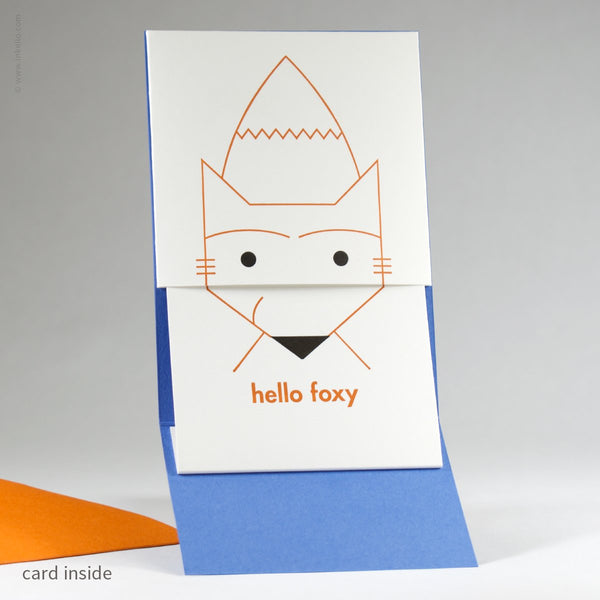 Peek-a-Boo Hello Foxy Card (#448) - Yellow Pencil Studio