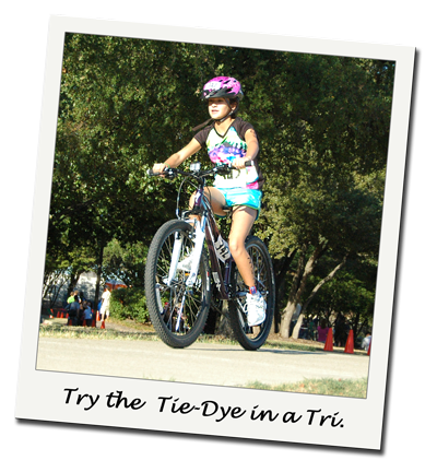 Try the Girls Tie-Dye Jersey in a Triathlon.