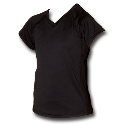 Black Youth Girls Soccer Jersey