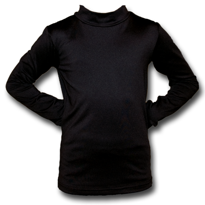 Youth Mock Turtleneck Under-Tee - Black