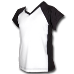 White Youth Girls Soccer Jersey