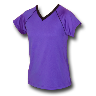 Purple Youth Girls Soccer Jersey by Breakaway Fashions