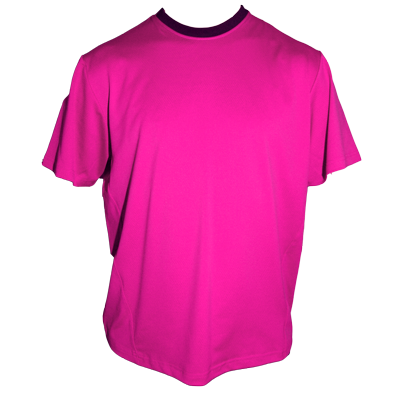 Razzle-Dazzle (Pink) Coach's jersey with black trim on the collar by Breakaway Fashions