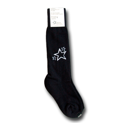 Black Youth Soccer Socks - Black
