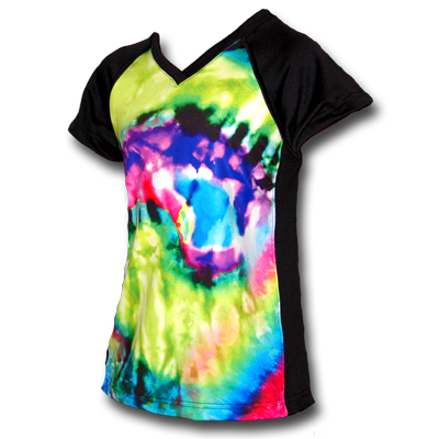 Tie-Dye Girls Soccer Uniform Jersey