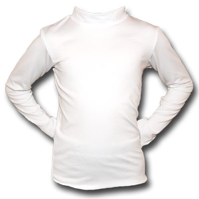 Youth Mock Turtleneck Under-Tee - White